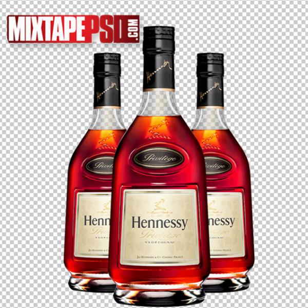 3 Hennessy Bottles Template