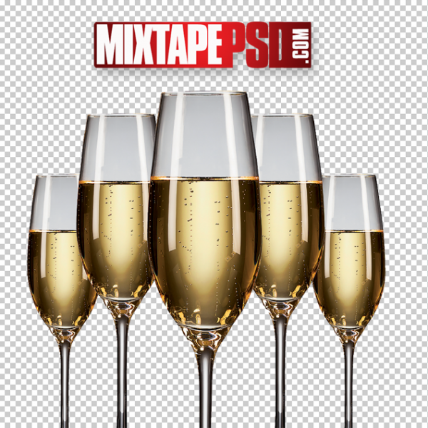 Champagne Glasses PNG 2