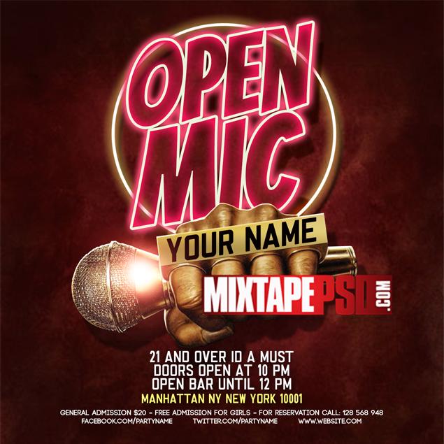 Flyer Template Open Mic 2