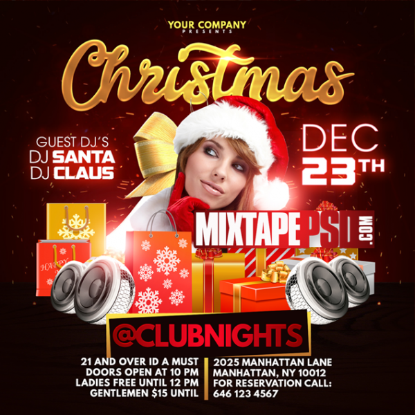 Flyer Template Christmas Party