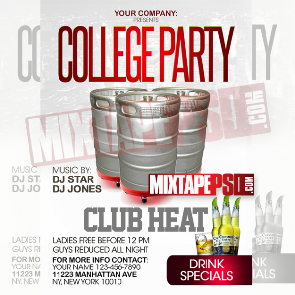 Flyer Template College Party