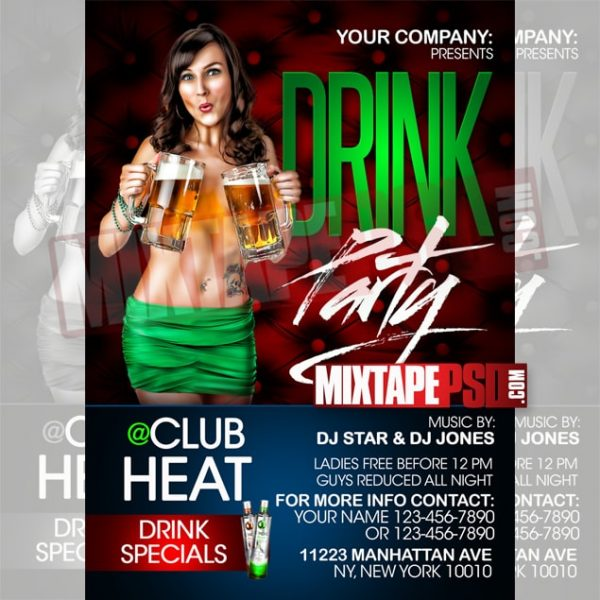 Flyer Template Drink Party