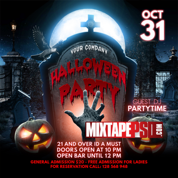 Flyer Template Halloween Party 2