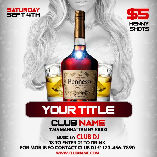 Flyer Template Hennessy Party