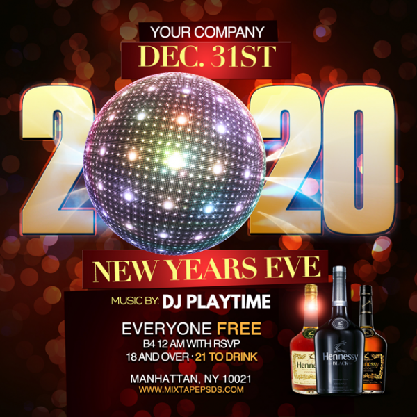 Flyer Template New Years 2