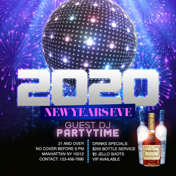 Flyer Template New Years 3