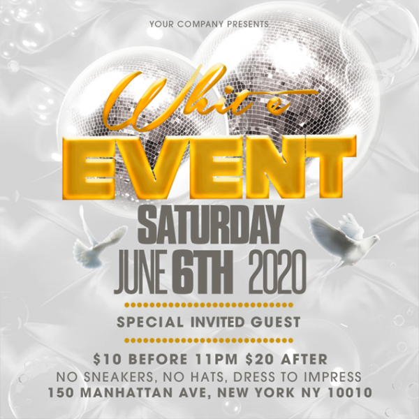 Flyer Template White Event