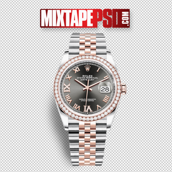 2 Tone Rolex Watch PNG Image