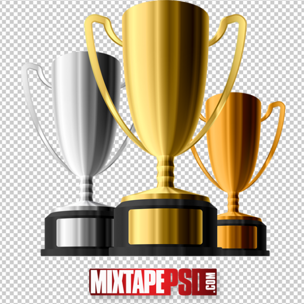 3 Trophies PNG