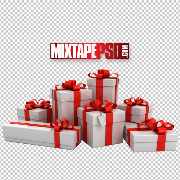 3D Christmas Presents Template