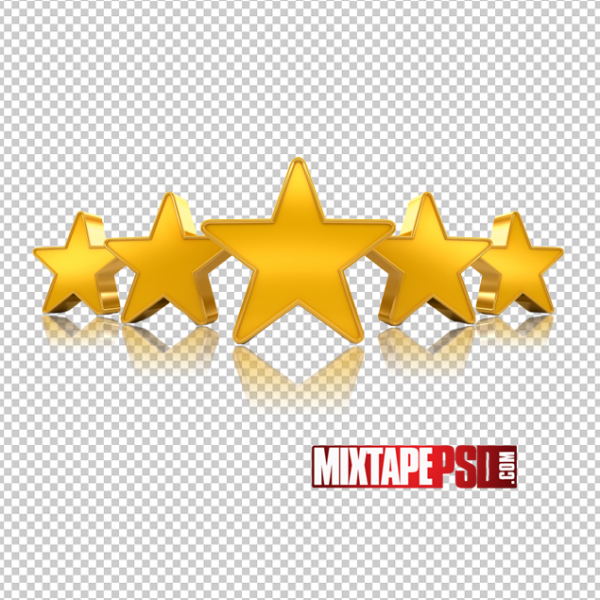 5 Gold Stars PNG Image