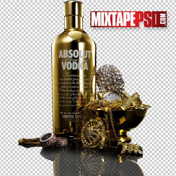Absolut Vodka Gold Bling Template