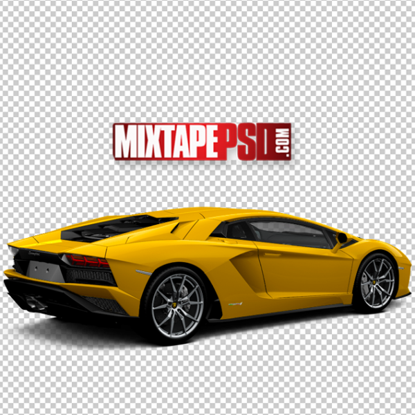 Yellow Aventador Lamborghini Template