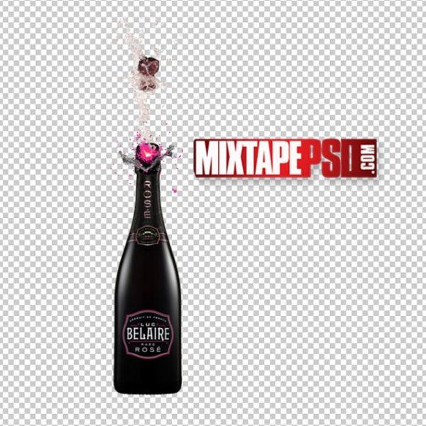 Belaire Rose Bottle Pop PNG