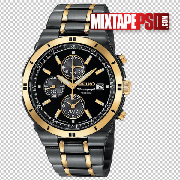Black and Gold Rolex Watch Template