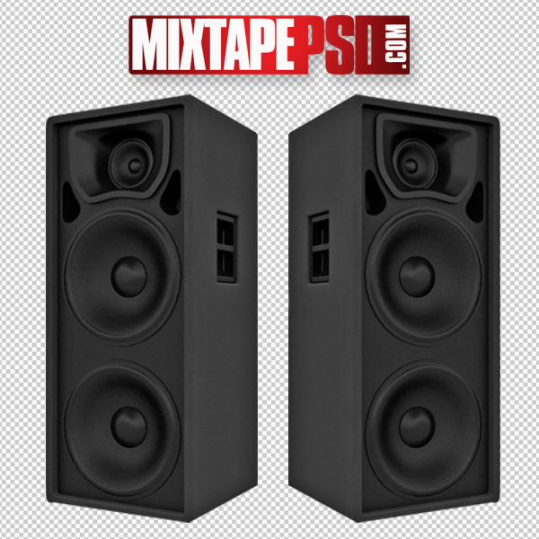 Black Club Speakers PNG 2