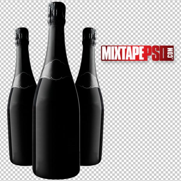 Black Liquor Bottles PNG
