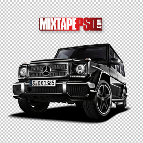 Black Mercedes Truck PNG