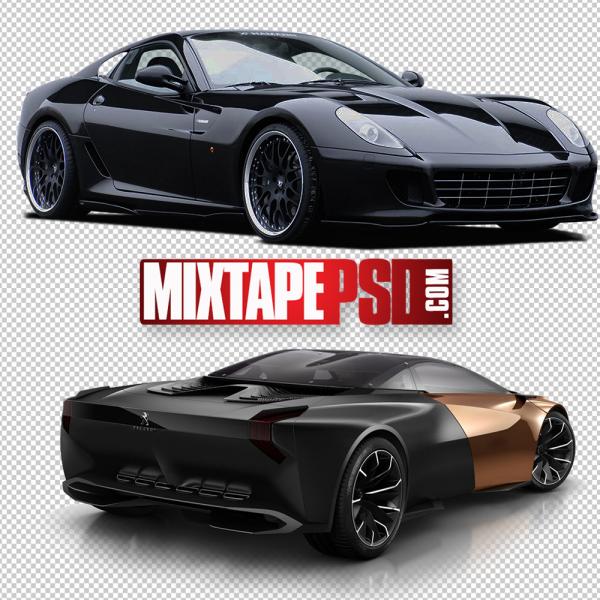 Black Sports Car PNG