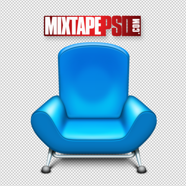 Blue Chair Furniture PNG Image