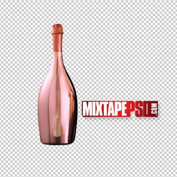 Bottega Rose Liquor Bottle PNG