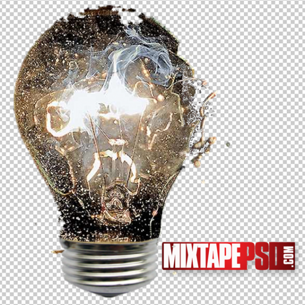Broken Lightbulb Template