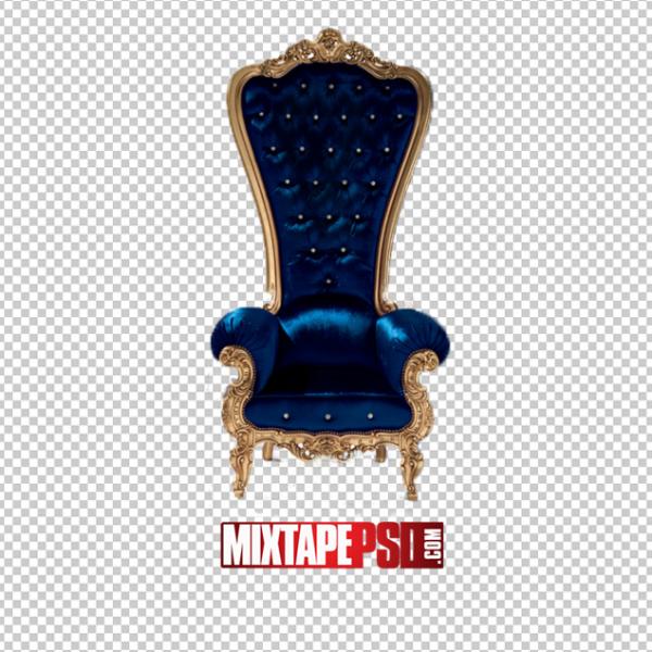 Blue Gold Throne Chair