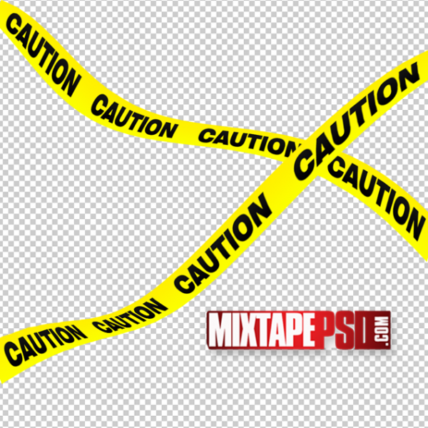 Caution Yellow Tape PSD Template
