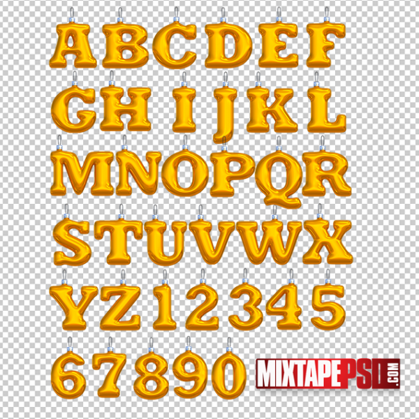 Christmas Ornament Alphabet and Numbers Template