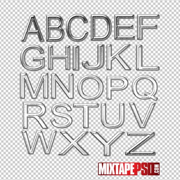Chrome Alphabet PNG