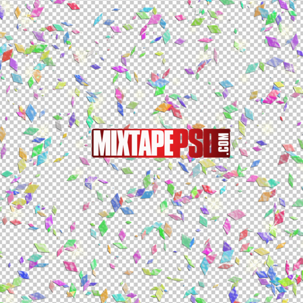 Colorful Confetti Pieces PNG