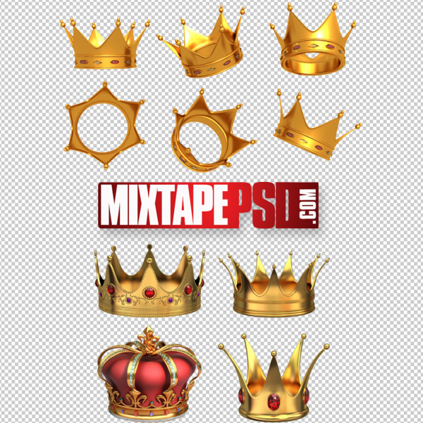 Various Crowns PSD Template PNG Image