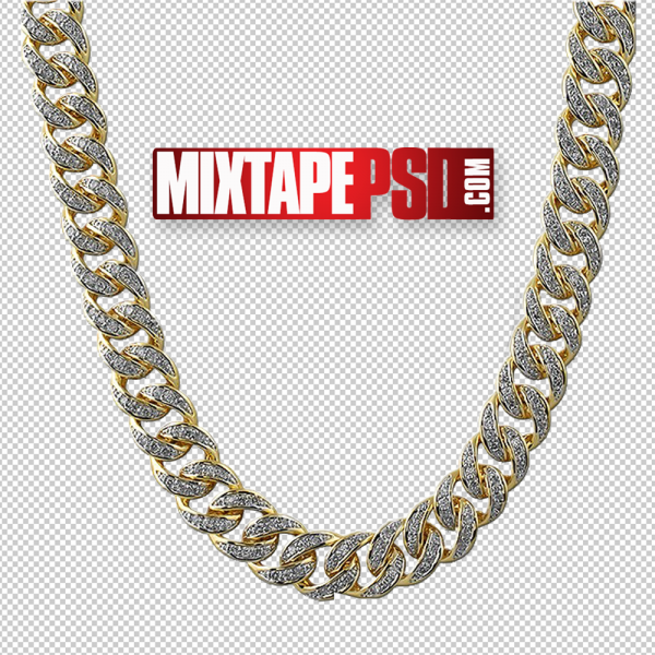 Diamond Gold Chain PNG