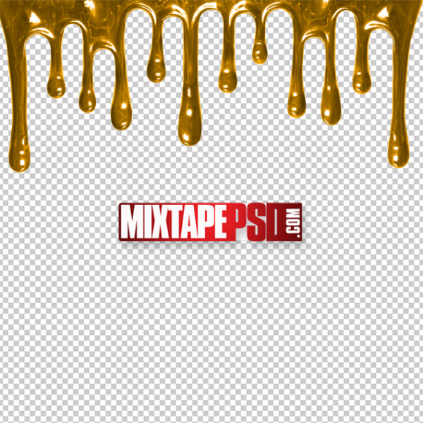Free Gold Dripping Cut PNG