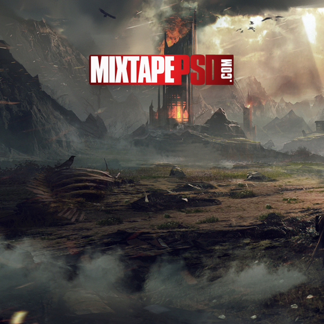 action movie background png mixtape cover background  - mixtapepsds