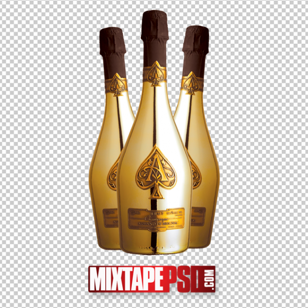 Gold Armand Bottles Template