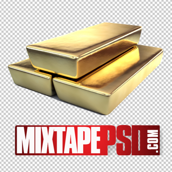 Stacked Gold Bars PNG