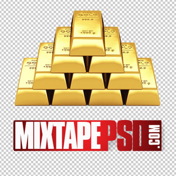 Stacked Gold Bars PNG 2