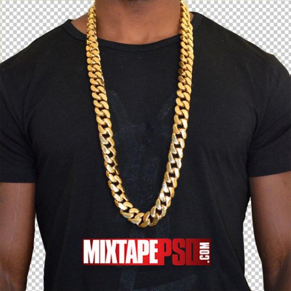 Gold Chain Black Shirt PNG