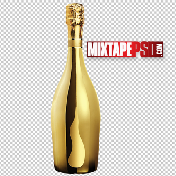 Gold Champagne Bottle PNG