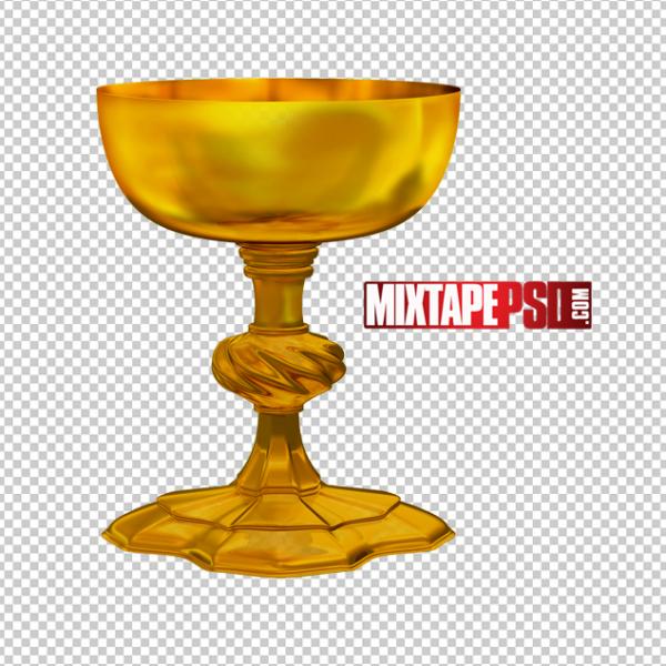 Gold Goblet PNG 3