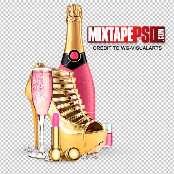 Gold Pink Ladies Elements