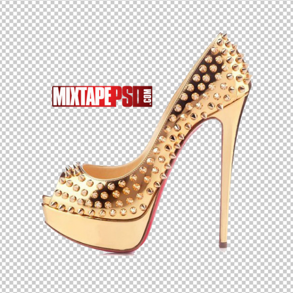 Gold Red Bottom Shoes
