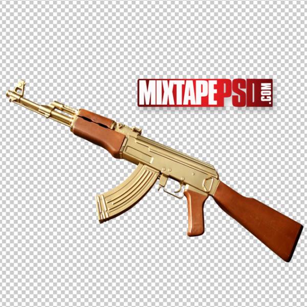 Golden AK-47 PNG