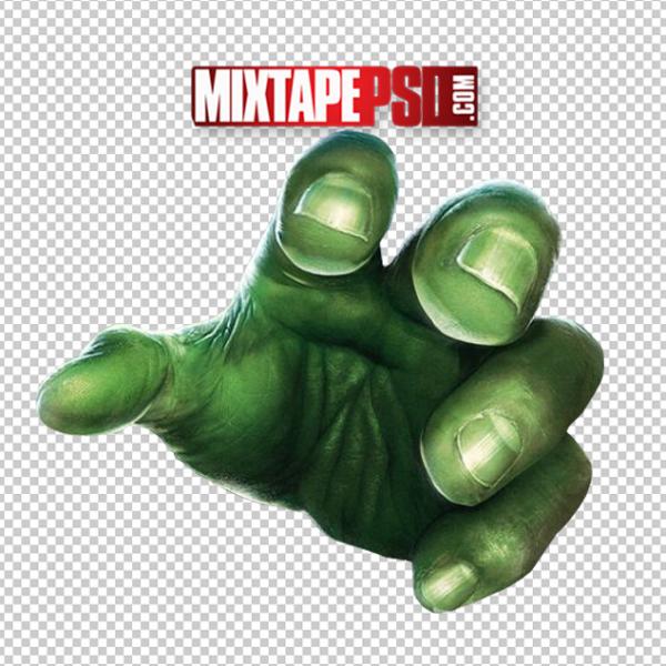 Green Hulk Hand PNG