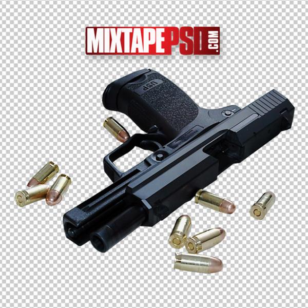 Gun and Bullets Template