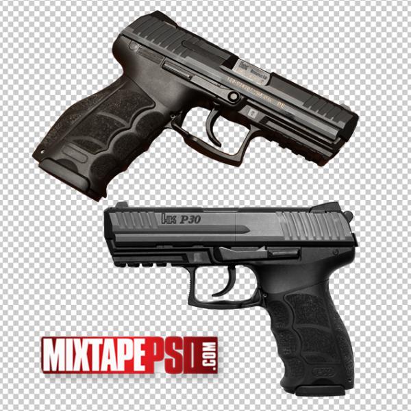 2 Hand Guns Pistols Template