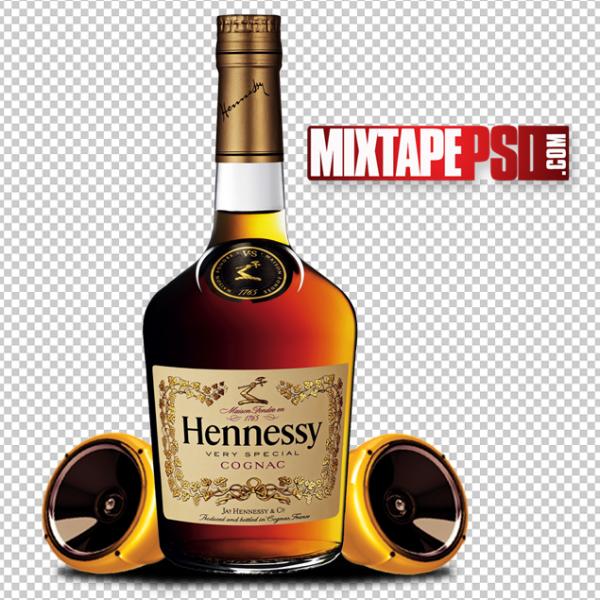 Hennessy Bottle Speakers Template