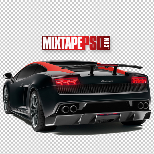 Red Black Lamborghini PNG