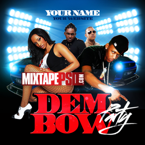 Free Mixtape Template Dembow Party
